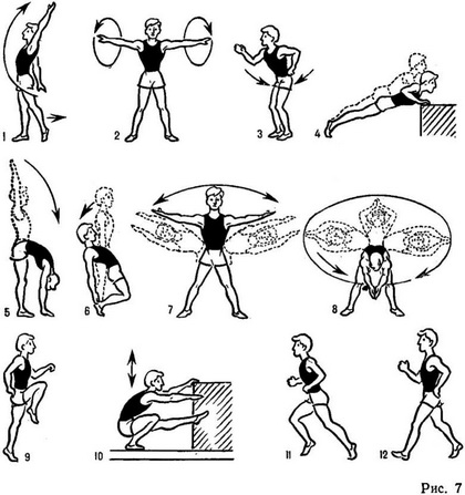 атлетика упражнения картинки лёгкая